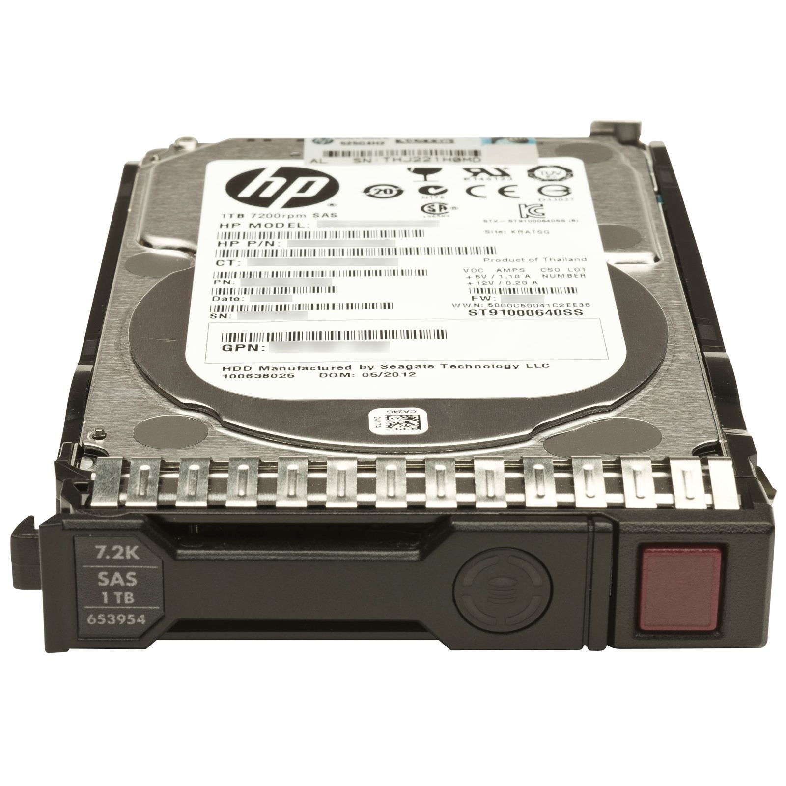 HP 1TB 6G SAS 7.2K 2.5IN SC MDL HDD Image
