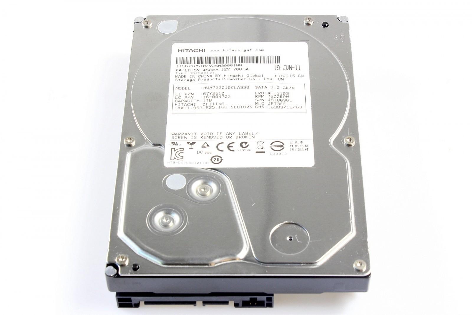 HUA722010CLA330 HITACHI 1TB 7.2K 3G SATA LFF SATA HARD DRIVE Image