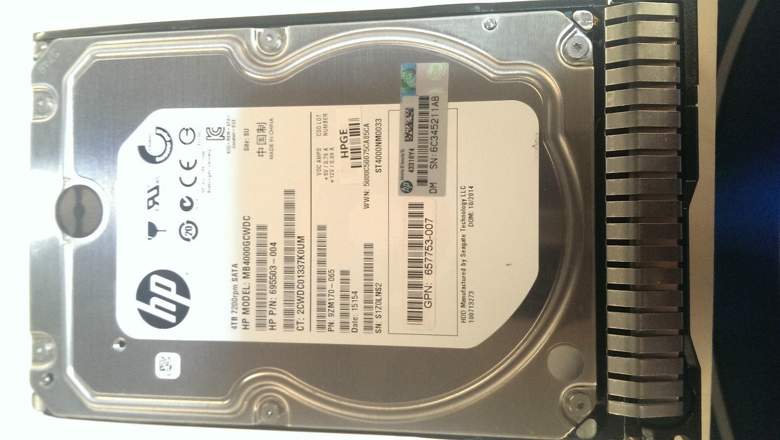 MB4000GCWDC HP 4TB 7.2K 6G LFF SATA HARD DRIVE Image