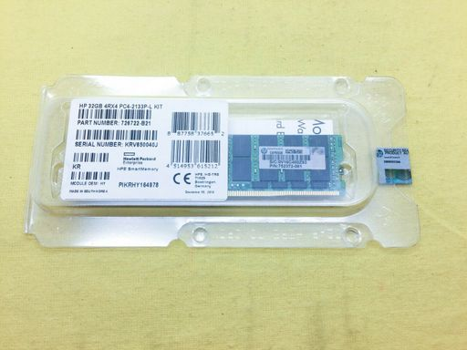 HP 32GB (1*32GB) 4RX4 PC4-17000P-L DDR4-2133MHZ MEMORY KIT Image
