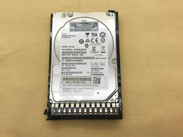 HP 600GB 12G SAS 10K 2.5in SC ENT HDD Image